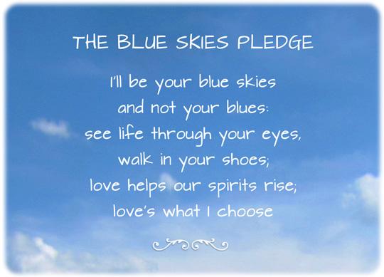 Blue Skies Pledge