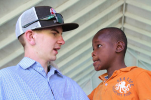 Brenda visiting orphanage in Jamaica