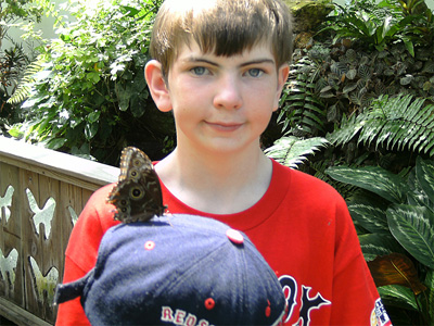 Brendan and butterfly