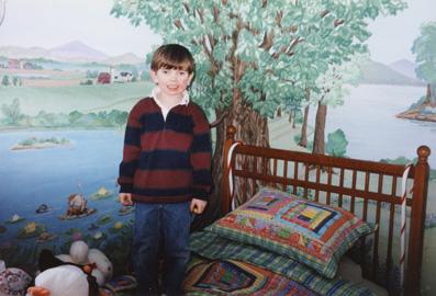 Brendan in his room