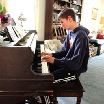 Brendan playing the piano