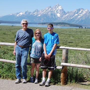 Brendan, Tim, Marie on vacation